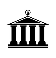 banking building icon vector image