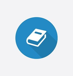 book Flat Blue Simple Icon with long shadow vector image vector image