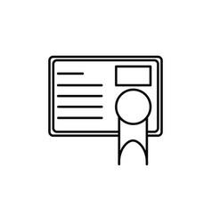 diploma icon vector image vector image