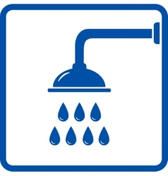 icon with shower head vector image vector image