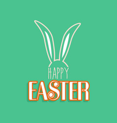 rabbit ears for happy easter greeting card vector image vector image