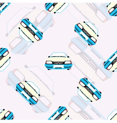 seamless background with kids toy cars vector image