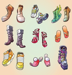 Some Original Shoes vector image vector image