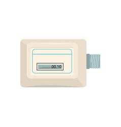 white electronic measuring counter household vector image vector image