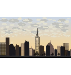 big city and skyscrapers vector image