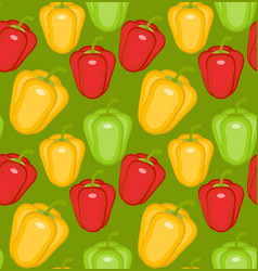 bulgarian pepper seamless pattern paprika yellow vector image vector image