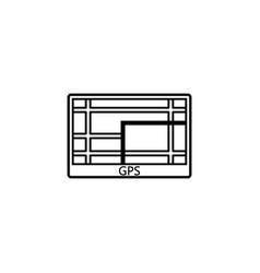 Gps navigation line icon car element navigator vector