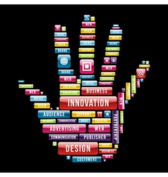 Innovation hand concept vector image