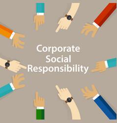 csr corporate social responsibility company vector image