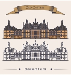 French Chateau Chambord castle building vector image