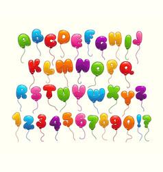 funny balloon alphabet vector image