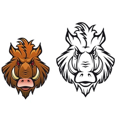 Head of angry boar vector image vector image
