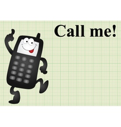 Mobile telephone call me vector image