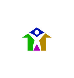 people house logo vector image