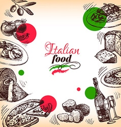 Restaurant Italian cuisine menu design Hand drawn vector image vector image