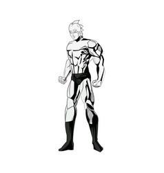 superhero figure standing proud image vector image