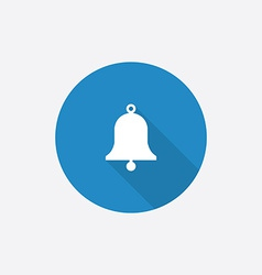 bell Flat Blue Simple Icon with long shadow vector image vector image