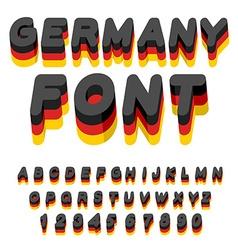 Germany font German flag on letters National vector image vector image
