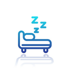 hostel line icon on white vector image vector image
