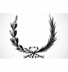 olive branches vector image vector image