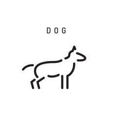 Outline dog silhouette vector