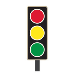traffic light icon on white background traffic vector image