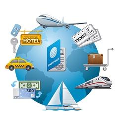 travel icon concept vector image