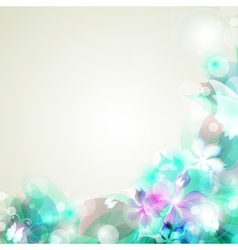 Abstract artistic Background with blue floral vector image
