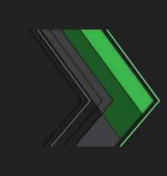 Abstract green grey arrow polygon direction vector