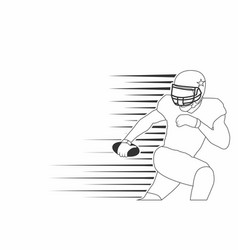 american footbal player line art isolated vector image