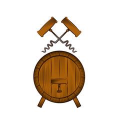 Barrel and corkscrew vector