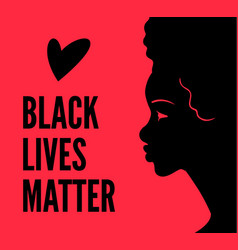 blm poster with woman silhouette vector image