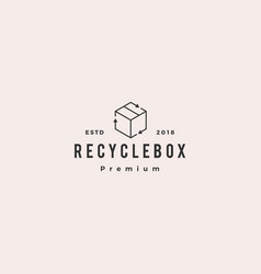 box packaging cardboard recycle logo icon vector image