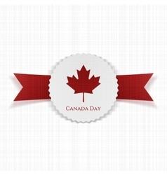 Canada day festive paper label vector