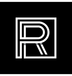Capital letter R Monogram logo emblem vector image