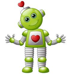 cartoon valentine robot vector image