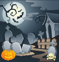 Cemetery theme image 1 vector