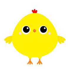 Chicken bird icon happy easter cute cartoon funny vector