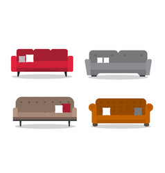 collection of comfortable sofa models vector image