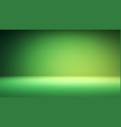colorful green studio backdrop with empty space vector image