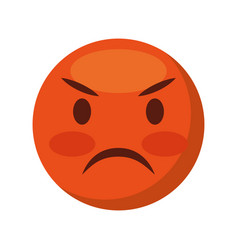 comic face emoticon isolated icon vector image