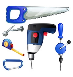 Construction tools and equipments vector