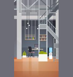 Coworking office interior modern center vector
