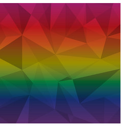 created multi color triangle abstract background vector image