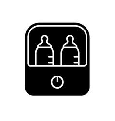 Cutout silhouette electric sterilizer or food vector