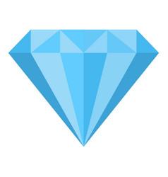 diamond icon flat style vector image