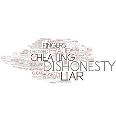 Dishonesty word cloud concept vector