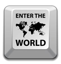 enter the world key vector image