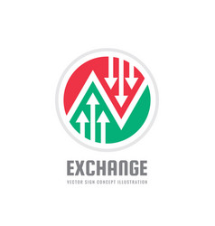 exchange - concept business logo template vector image