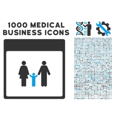 Family Calendar Page Icon With 1000 Medical vector